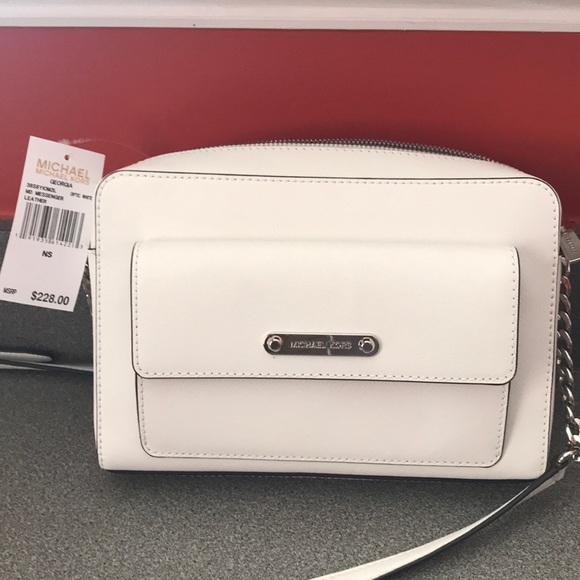 306241979ae7 Michael Kors Bags | New Optic White Georgia Crossbody | Poshmark